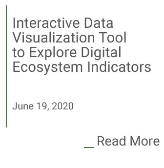 Interactive Data Visualization tool to explore Digital Ecosystem Indicators